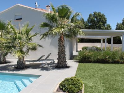 Photo for Luxurious modern villa with heated private swimming pool, jeu de boules court and lots of privacy