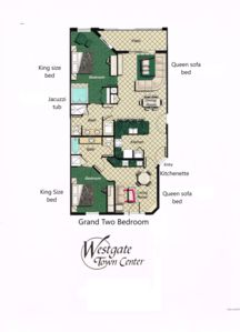 Photo for Beautiful 2 Bedroom villa at the Westgate Town Center Resort & Spa 1 mile