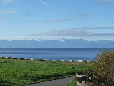 At our doorstep is this stroll along the ocean, with view of the Olympic range.