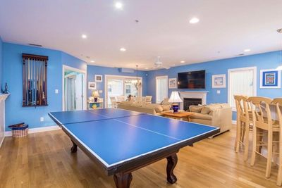 "One of 2 first floor family rooms with new 65"" TV and Pool/Ping Pong table!"