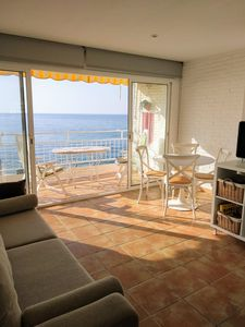 Photo for Apartment on the beach, with sea views, near Barcelona