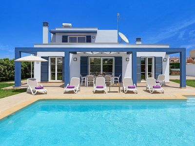 Photo for 4 bedroom Villa, sleeps 8 in Cala'N Blanes with Pool, Air Con and WiFi