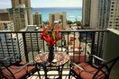 The veranda has greta waikiki beach viewe