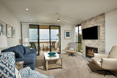 The ocean-view living area will be a welcome oasis after a day in the sun and surf!