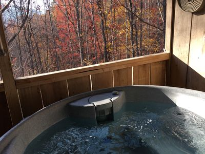 Photo for Bearidise  in the Mtns! - Hot Tub, Fireplace, Near Asheville, View, Fire Pit, Free WiFi, Pet Friendl