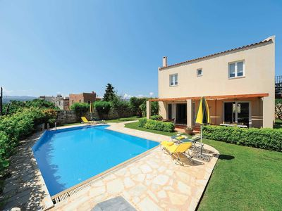 Photo for 3 bedroom Villa, sleeps 6 in Prinos with Pool, Air Con and WiFi