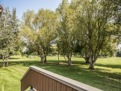 Photo for LOW SUMMER RATES! No Car Needed - Easy 3 Min Walk To Free Shuttle! Golf Course Views, Pool, Hot Tub