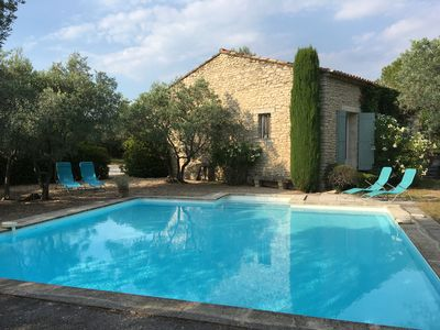 La Garance and its pool surrounded by olive trees