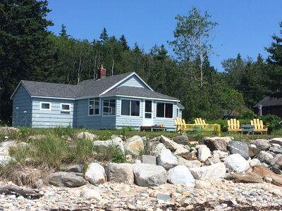 Photo for Oceanfront on John's Bay with Private Beach 50 feet from Cottage, New Harbor.