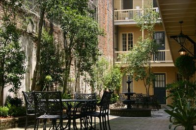 Ground floor unit with access to this beautiful courtyard