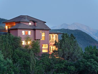 Photo for THE CLIFF HOUSE, LUXURY HOME WITH BREATHTAKING  MOUNTAIN VIEWS, NEAR DOWNTOWN!