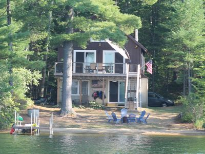 Photo for Beautiful Home directly on Lake Winnisquam with beach and private boat dock