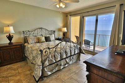 Master bedroom with access to the private balcony.