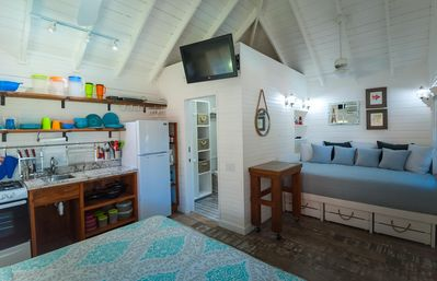 Photo for Arriba is an upstairs, king bed, and queen bed, poolside, studio condo