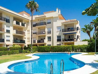 Photo for Playa Duque Marbella Apartment, Sleeps 4 with Pool, Air Con and Free WiFi
