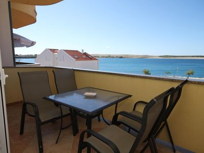 Photo for Studio flat with terrace and sea view Povljana (Pag)