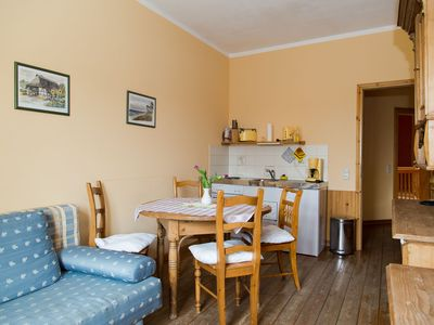 Photo for Apartment in country house with garden house, terrace, sauna, breakfast possible