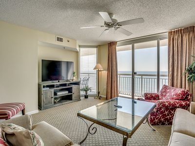 Photo for Crescent Shores 1403, 4 Bedroom Beachfront Condo, Hot Tub and Free Wi-Fi!