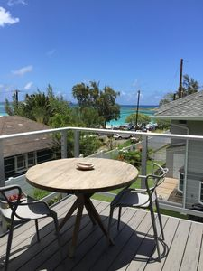 Large lanai deck with a view.