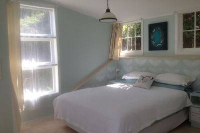 A light filled bed area