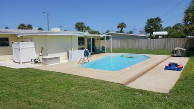 Photo for Pet Friendly Beach House With Pool. The beach is just a 1 min walk.