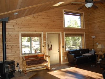 Photo for Well Appointed Cabin On Wooded Acre,close To Lakes And Trails Handicap Accessibl