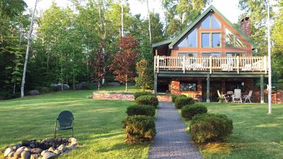 Spectacular Mount Katahdin Views from the all glass front,oversized deck&patio.
