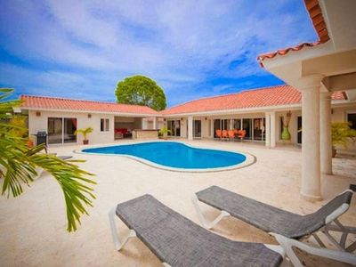 Photo for This particular villa is located in a small town called Sosua within the Dominican Republic. Its a beautiful vacation town in the Caribbean and is located right next to the beach and about thirty minutes from the airport.