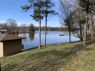 Cypress Landing Waterfront Home tucked in a quiet cove. With great lake views