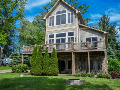 Photo for Live in luxury in this spectacular 4 bedroom chalet with stunning lake views!