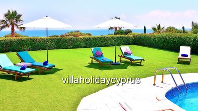 Photo for 3 Bedroom 2 Bathroom Bungalow Villa With Private Pool Overlooking The Sea.