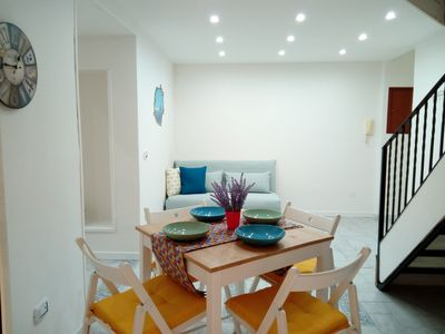 dining room with sofa bed