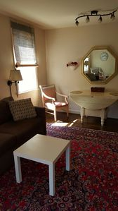 Living room, drop leaf table. seating for (5)