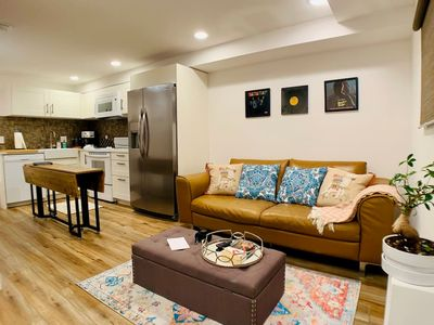 Photo for Very clean, modern, and well-appointed daylight basement apartment.