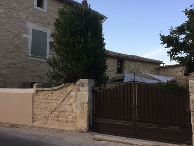 Photo for Beautiful stone house in the medieval village of St Laurent des Arbres