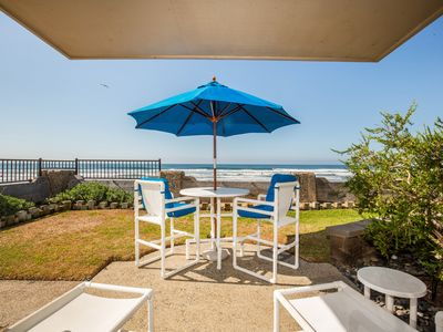 Photo for Oceanfront, Privacy, Comfort in the Front Row, Laundry in Condo, 2 Garage Spots