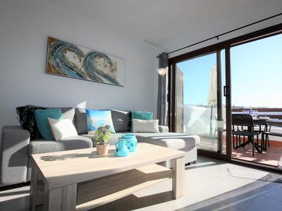 Photo for Casa Tarot, apartment with balcony and roof terrace with shared pool