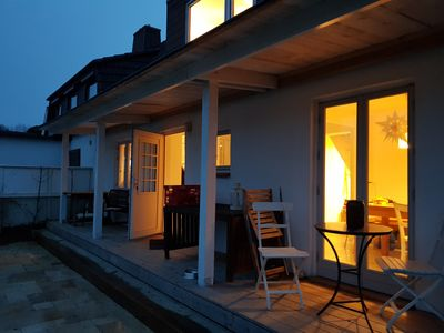 Photo for Close to the beach holiday home with large garden on the steep bank of the Kiel Fjord