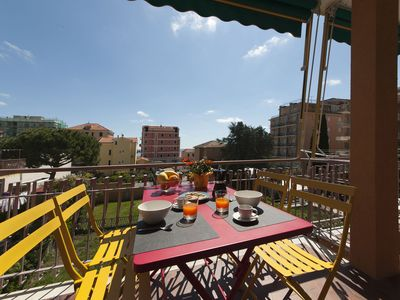 Photo for FORNICA 11 RIVIERA-HOLIDAY F11 - 100 meters from the sea, large terrace, free wifi