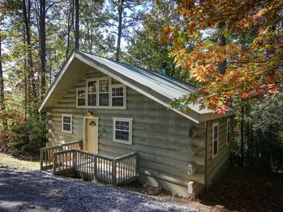 Photo for Laurel Haven is the perfect Honeymoon cabin with a heart-shaped Jetted Indoor Jacuzzi with Accent Mi