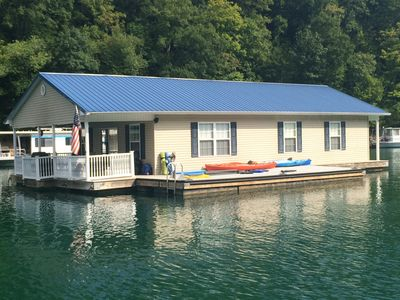 Photo for Attitude Adjustment Beautiful Floating Home on Scenic Norris Lake