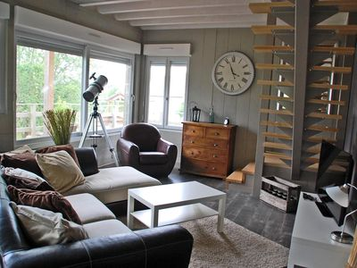 Photo for Gite for 6-9: wooden house w/ a high-quality contemporary layout & lots of space