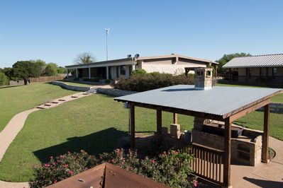 Cedar Creek Ranch accommodates up to 25 guests and sits on 12 acres.