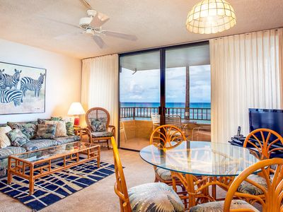 Photo for NEW LISTING! Oceanfront condo w/amazing view, shared pool/hot tub, next to beach
