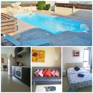 Photo for 1 Bedroom Apartment With Communal pool walking distance to the beach