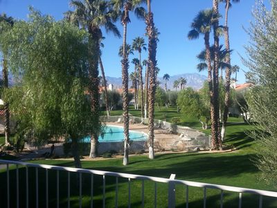 View of San Jacinto Mountain from family room and master bedroom balconies