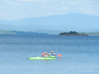 Oyster Haven is equipped with 3 kayaks, along with a canoe and 2 paddle boards.
