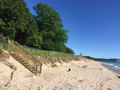 Photo for Amazing secluded cottage in Sleeping Bear Dunes - private beach on the lake