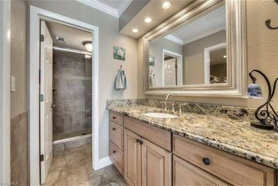Master Bedroom suite includes a full bathroom, walk-in closet and vanity area.