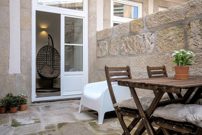 Terrace - fully equipped with set of table and chairs, sofas and barbecue.